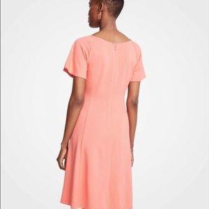 Ann Taylor Dresses - NWT Ann Taylor Short Sleeve Flare Dress 14 Coral